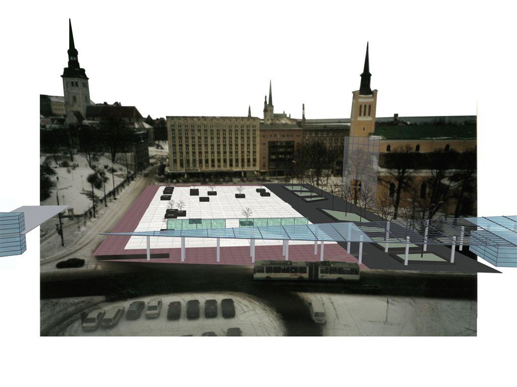 Vabaduse Väljaku avalik arhitektuurivõistlus III preemia