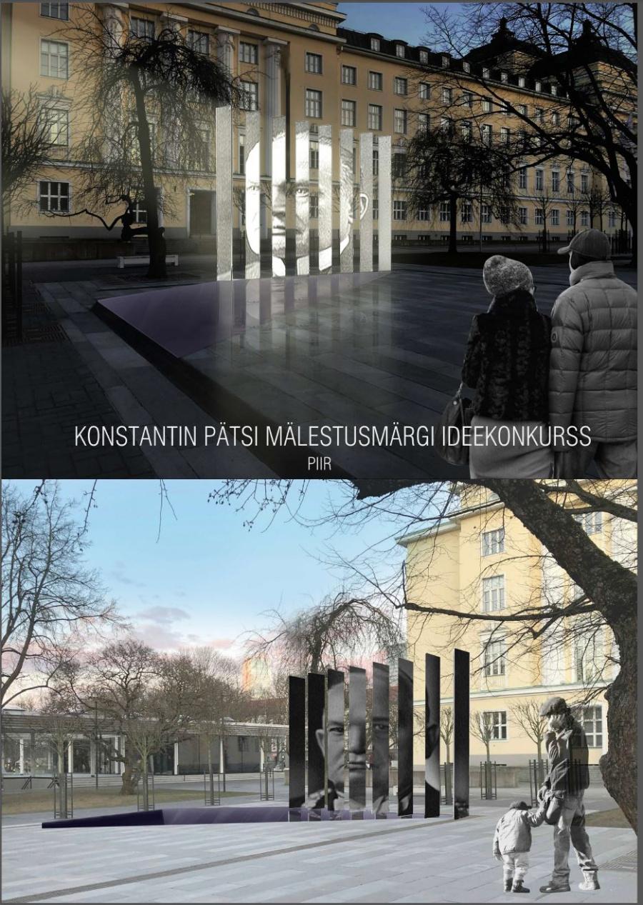 """Konstantin Pätsi mälestusmärgi ideekonkursi töö """"PIIR""""- ostupreemia"""
